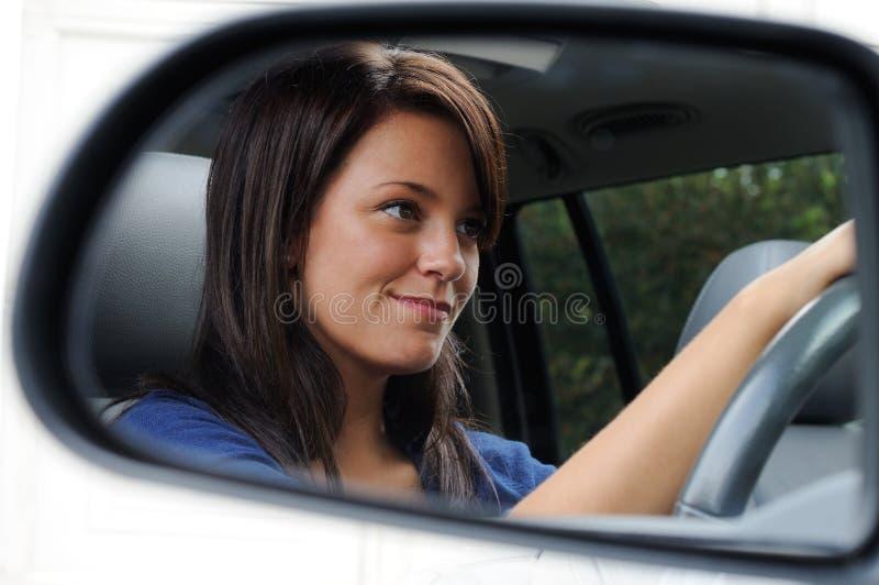 Woman Driving royalty free stock photo