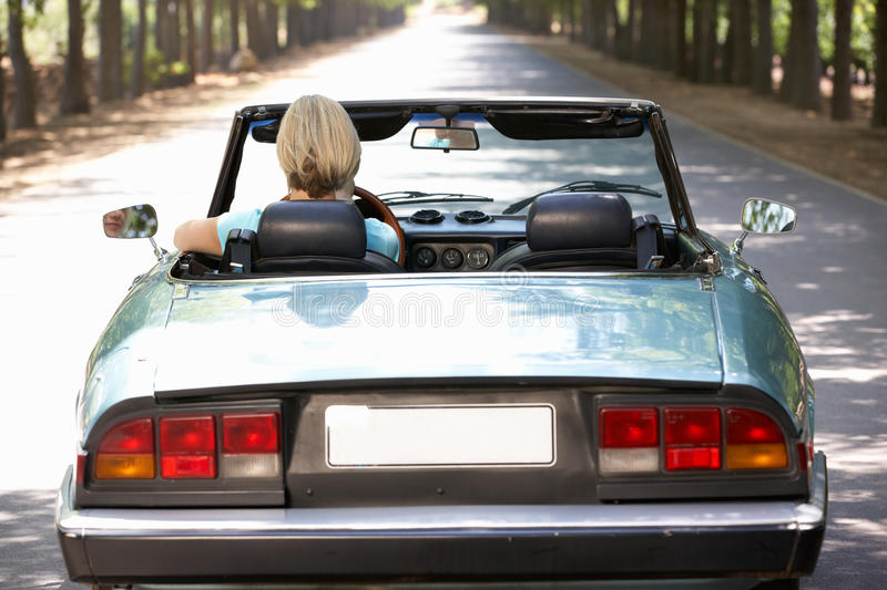 Download Woman driving sports car stock photo. Image of classic - 21028034