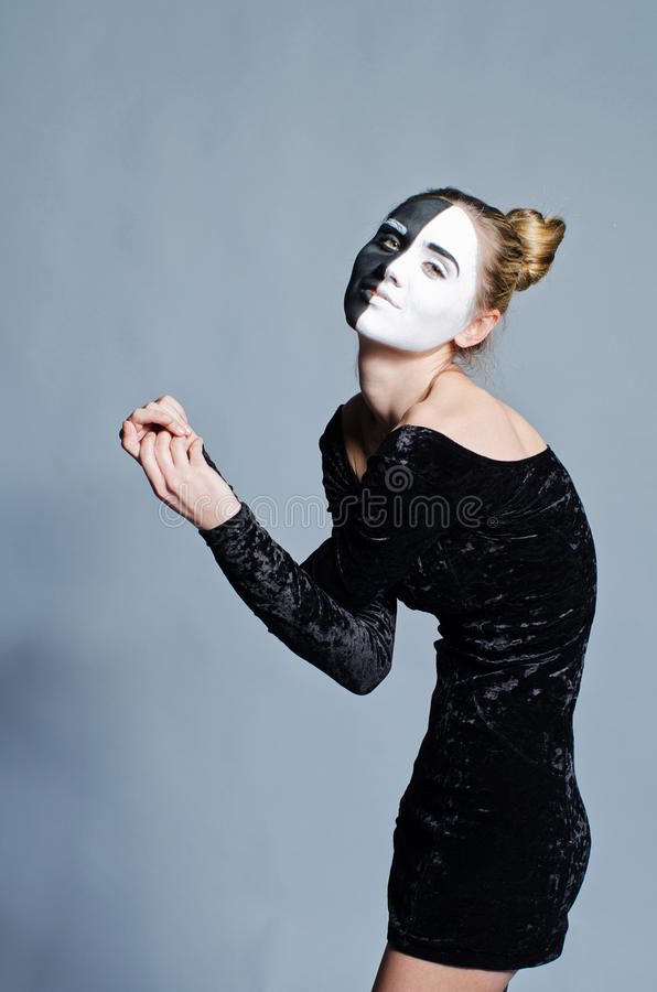 Download Woman With Dual Greasepaint Stock Photo - Image of adult, dual: 24933998