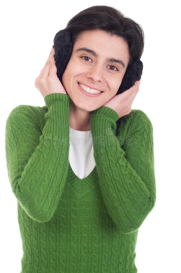 Download Woman With Ear Muffs Royalty Free Stock Images - Image: 19226429