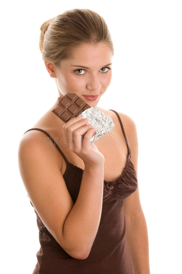 Download Woman Eating Chocolate Stock Photography - Image: 17023222