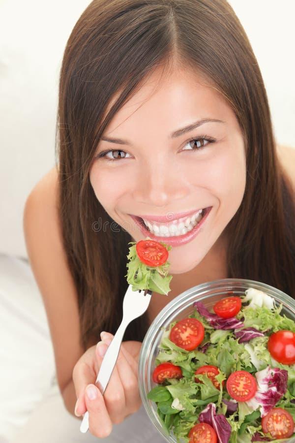 Free Woman Eating Healthy Salad Royalty Free Stock Photos - 17299048