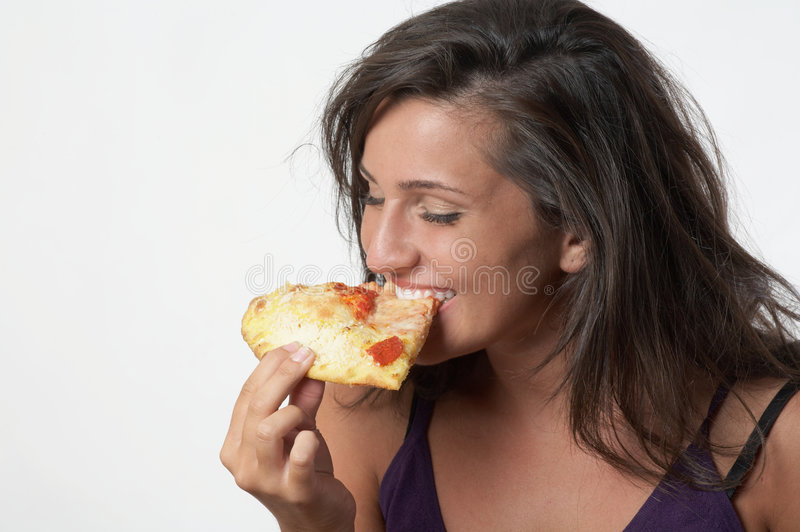 Download Woman Eating Pizza stock photo. Image of fast, people - 5842374