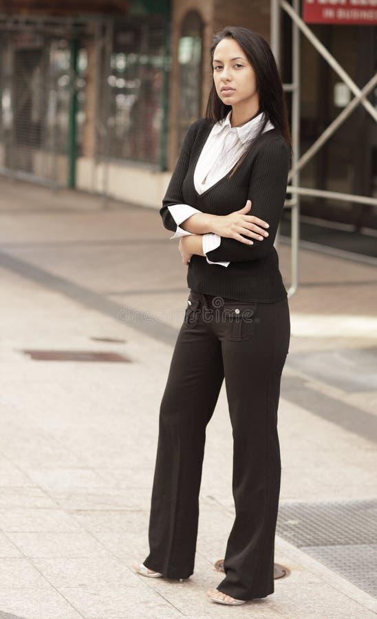 Woman in editorial fashion