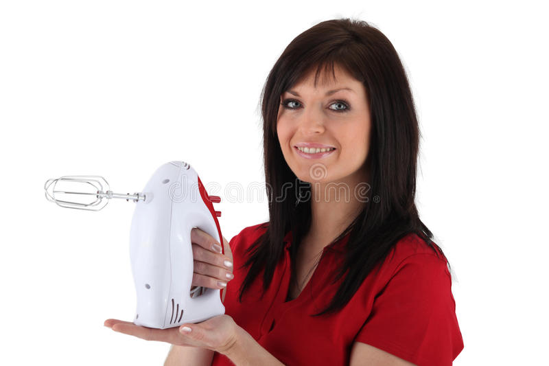 Download Woman With An Electric Mixer Stock Image - Image: 35743465