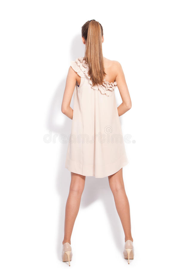 Download Woman In Elegant Dress Back View Stock Photo - Image: 25311388