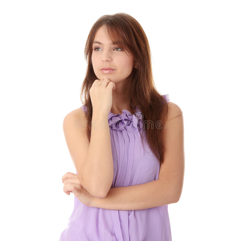 Download Woman In An Elegant Violet Evening Gown Stock Image - Image: 12141023