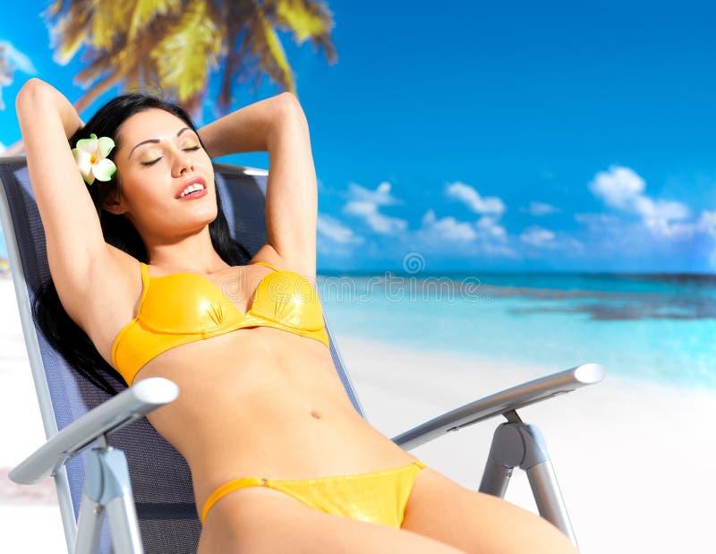 Download Woman enjoying at beach stock photo. Image of freedom - 28773836
