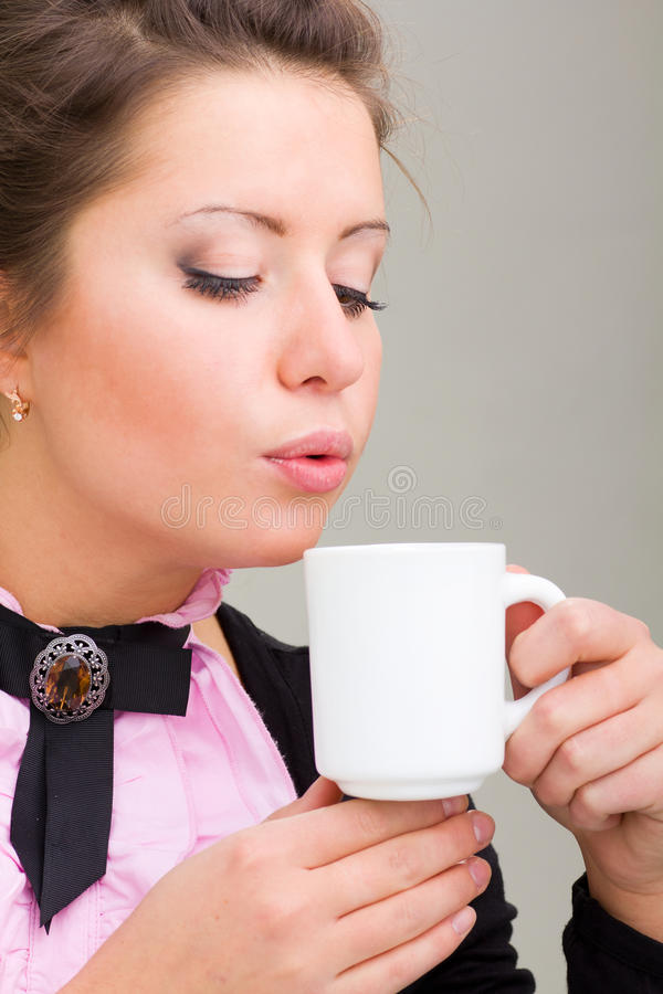 Download Woman Enjoying A Cup Of Coffee Stock Photo - Image: 17518046