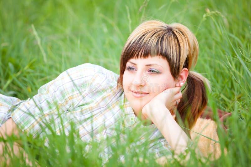 Woman enjoying a day outdoor stock photo