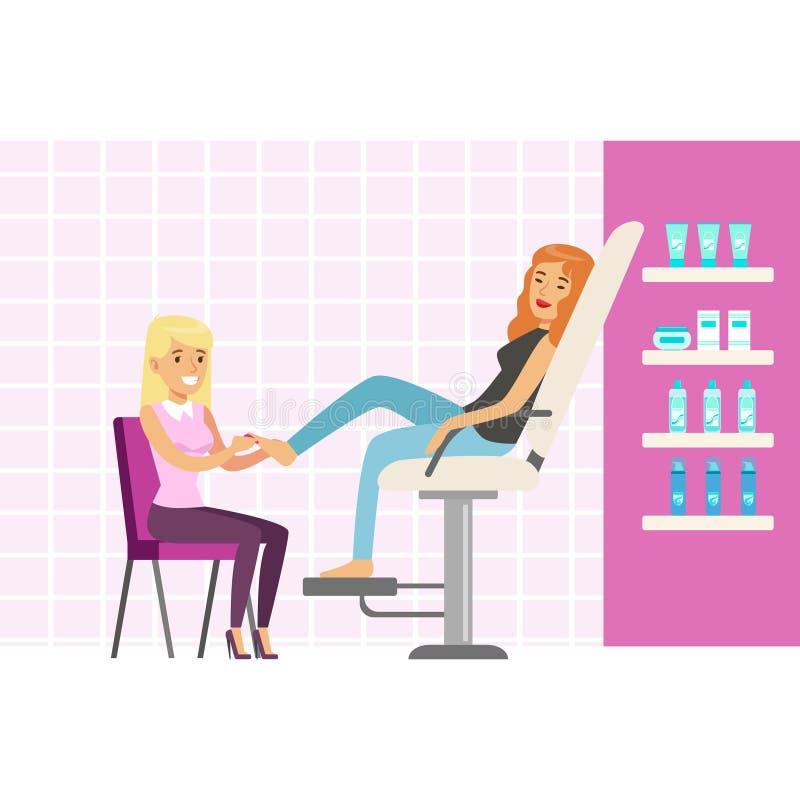 Woman enjoying a foot massage at spa or beauty salon for A b beauty salon