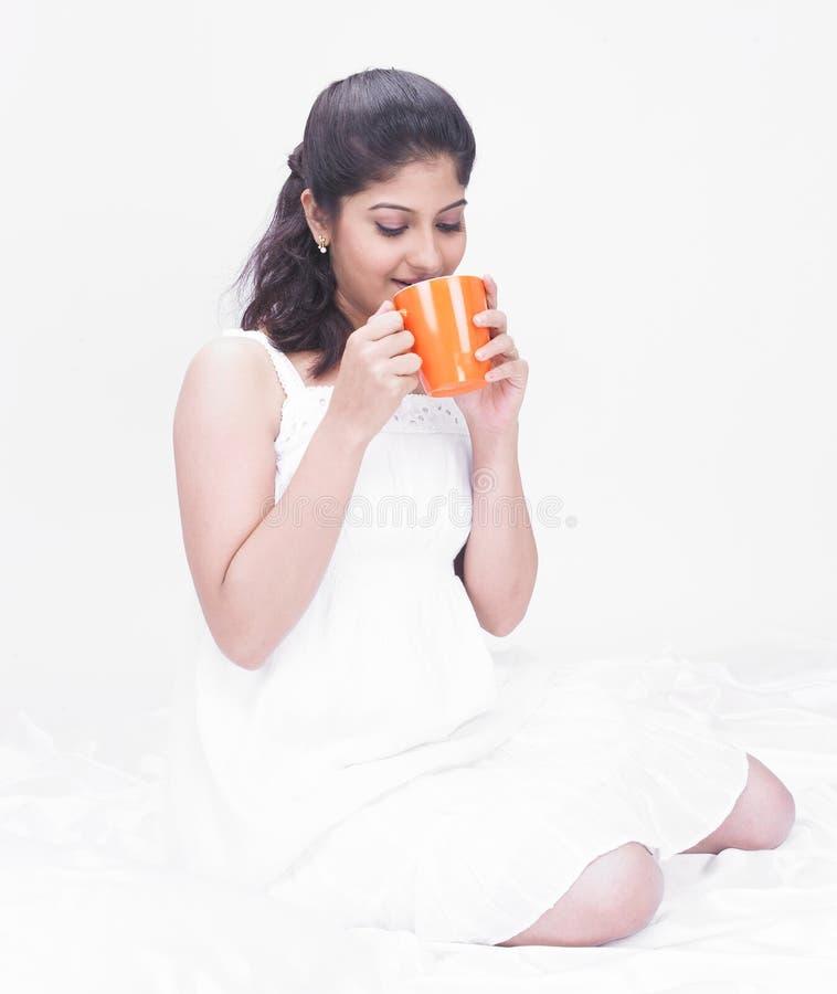 Download Woman Enjoying Her Drink Stock Photos - Image: 7386183