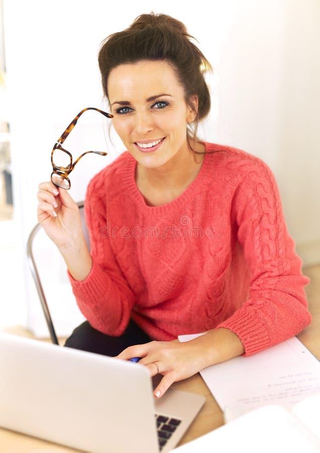 Download Woman Enjoying Her Job As A Freelancer Stock Image - Image: 29440119