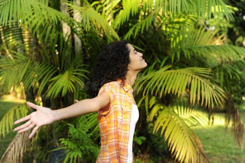 Download Woman enjoying nature stock image. Image of healthy, alternative - 14426865