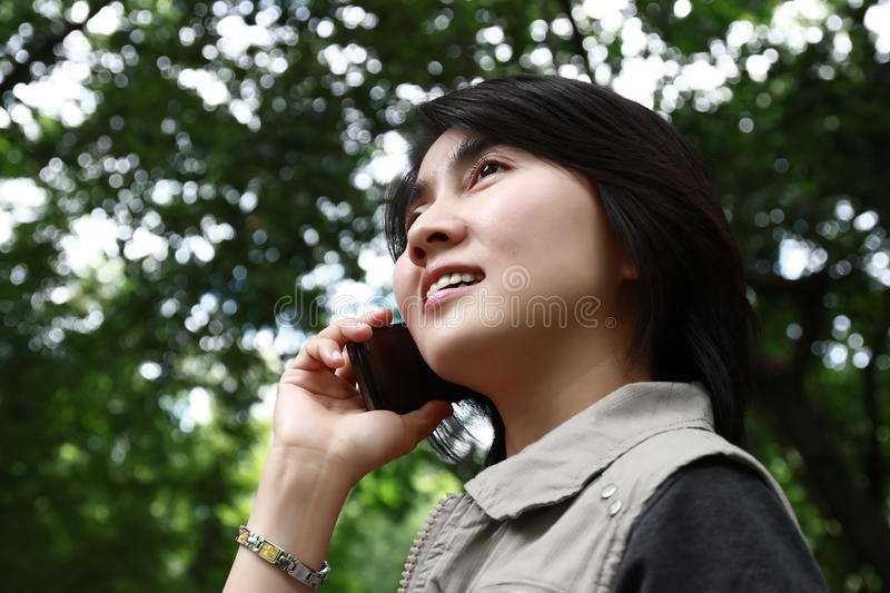 Download Woman Enjoying Talking On A Cell Phone Stock Photography - Image: 16112642