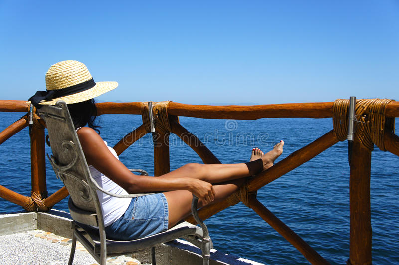Download Woman enjoying the view stock image. Image of enjoy, forrest - 24358295