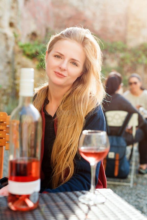 Wine Tasting Tourist Woman. Stock Photo - Image of alcohol ...