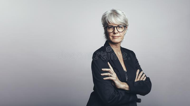Woman entrepreneur in formal clothes royalty free stock photography