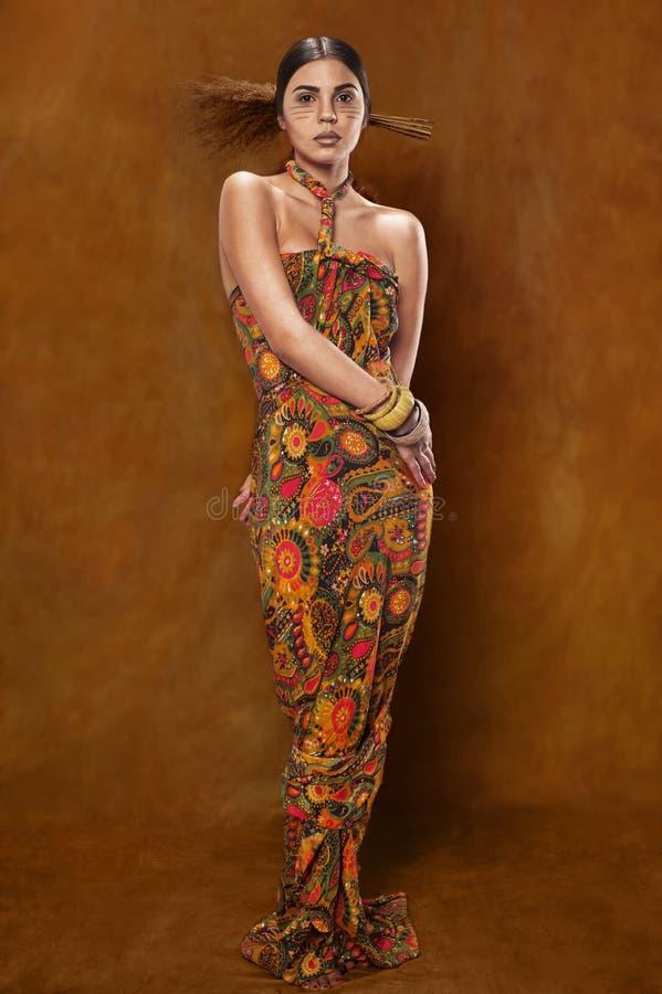 Woman in ethnic dress stock photos