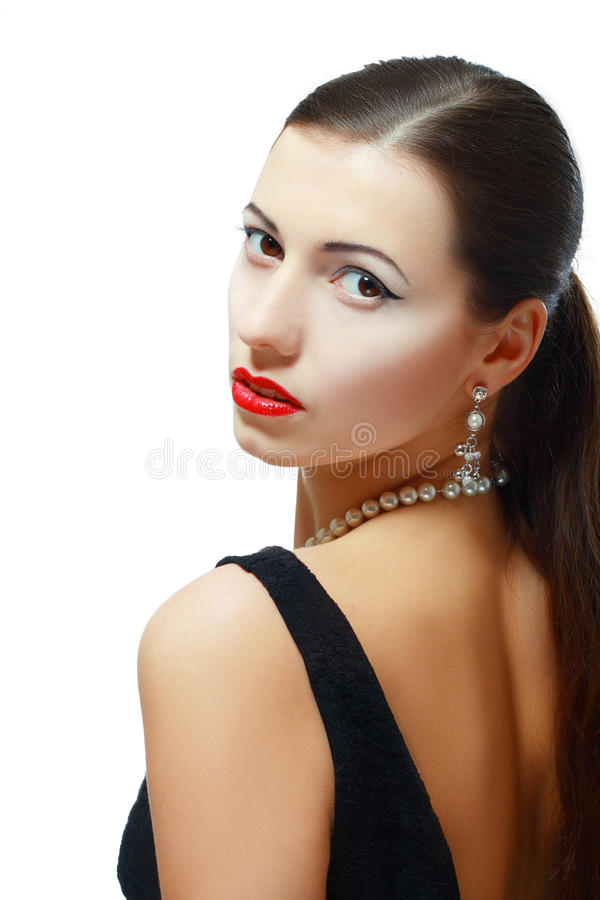 Woman with evening make-up royalty free stock image