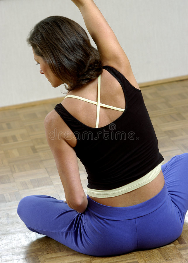 Woman excercising royalty free stock image