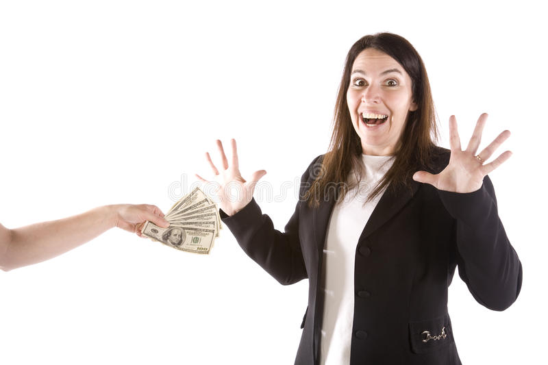 Download Woman excited to get money stock photo. Image of currency - 14296868