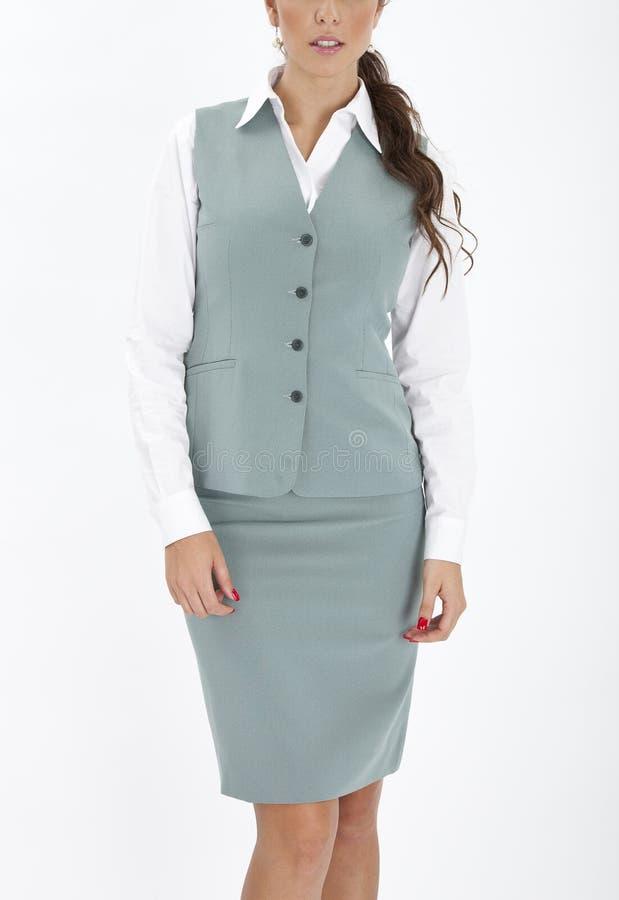 Woman in an executive uniform. Beautiful woman in an executive uniform stock photo
