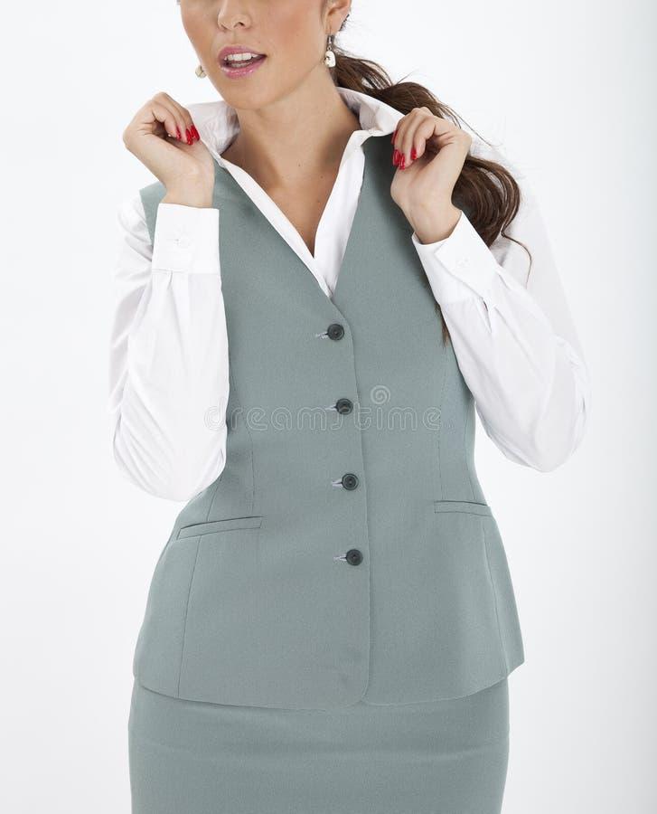 Woman in an executive uniform. Beautiful woman in an executive uniform stock images
