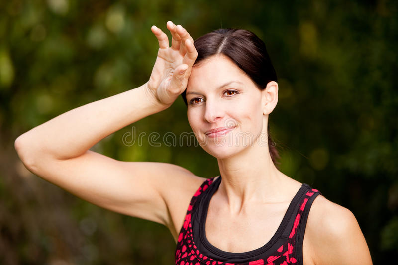 Woman Exercise royalty free stock photography