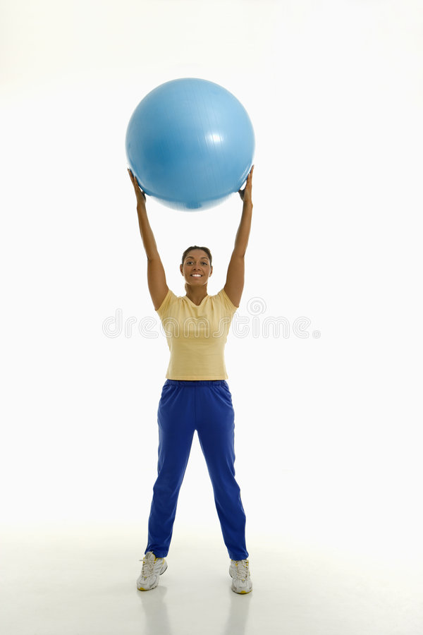 Download Woman with exercise ball. stock image. Image of adult - 2772543