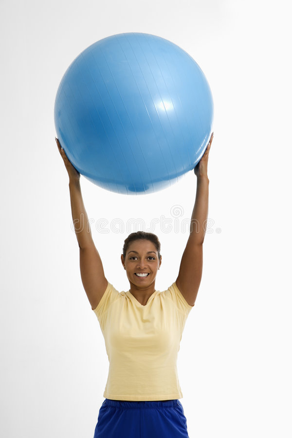 Download Woman With Exercise Ball. Royalty Free Stock Image - Image: 2772546