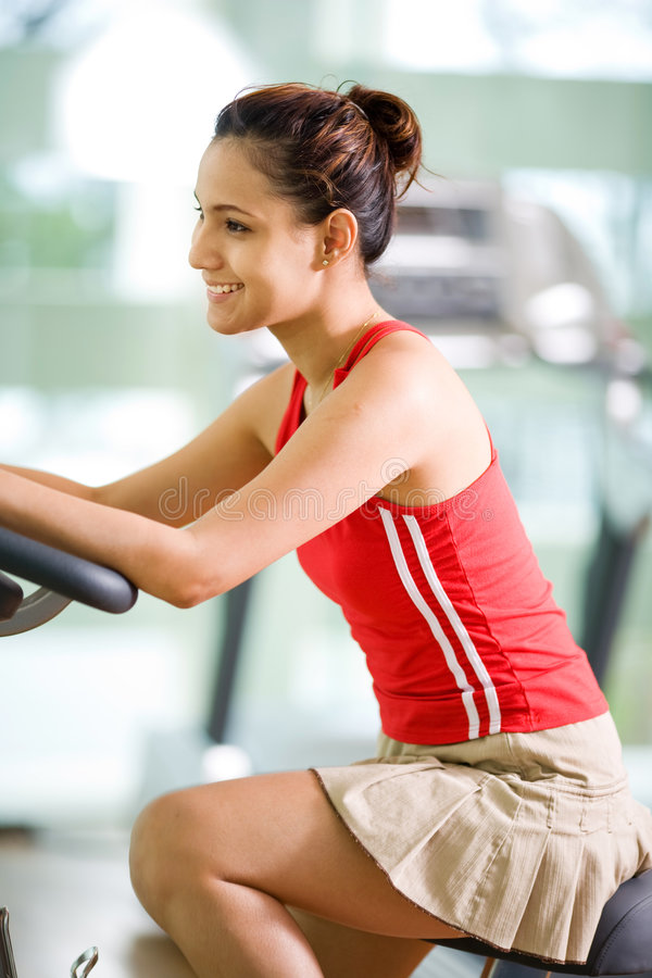 Download Woman exercise at gym stock photo. Image of lifestyles - 4474546