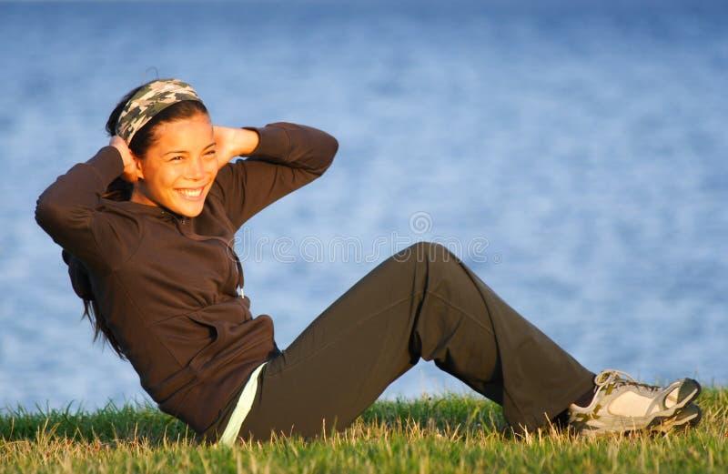 Woman Exercise / Sit-ups Royalty Free Stock Photos