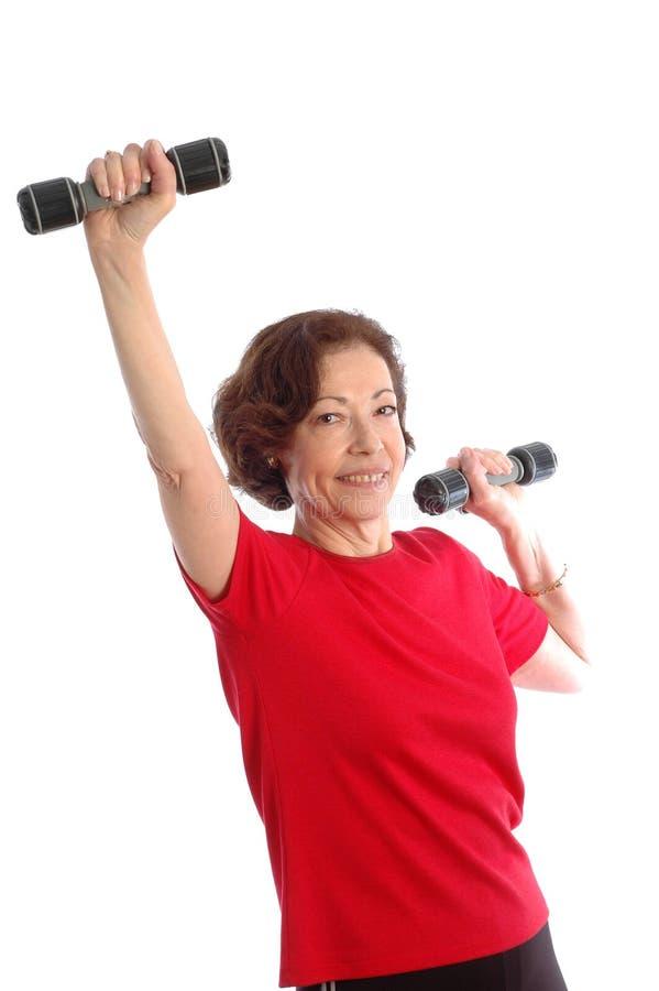 Download Woman exercising stock photo. Image of curl, lifting, press - 502828