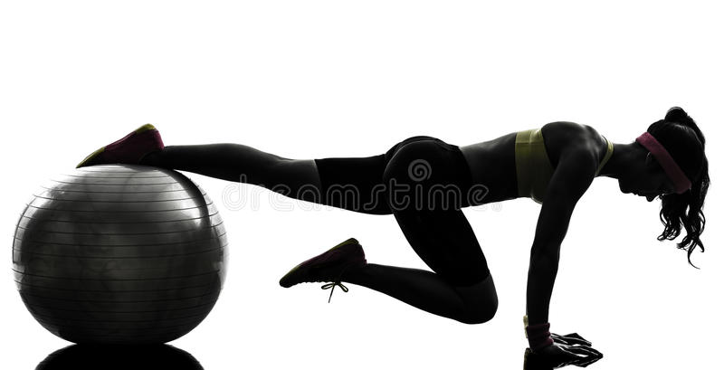 Download Woman Exercising Fitness Workout Plank Position Silhouette Stock Photo