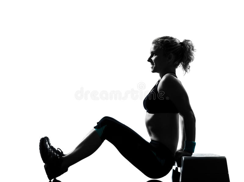 Download Woman Exercising Step Aerobics Stock Image - Image: 20946457