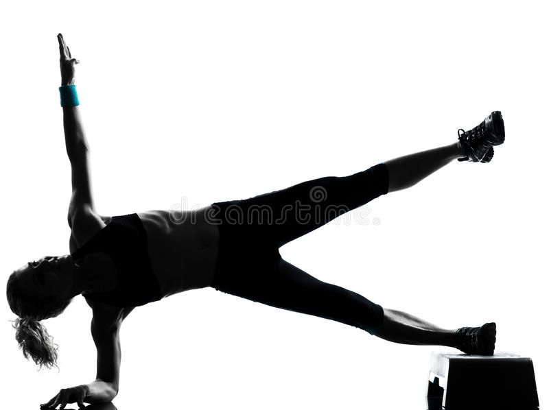 Download Woman Exercising Step Aerobics Stock Photo - Image: 20946460