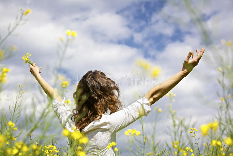 Download Woman Expressing Gratefulness Stock Photo - Image: 14448930