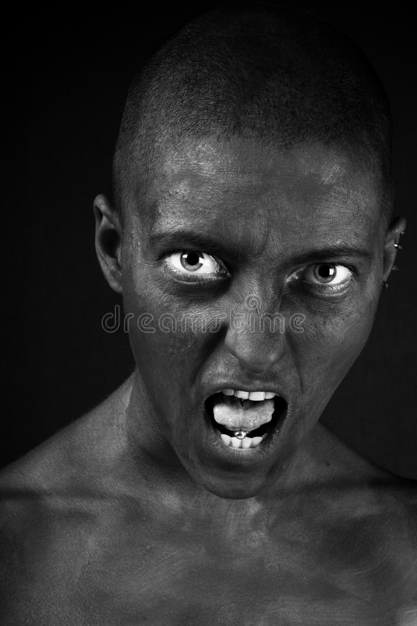 Woman expression. royalty free stock photography