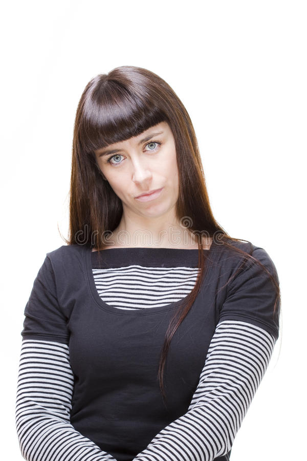 Download Woman expressions stock image. Image of serious, isolated - 22529361