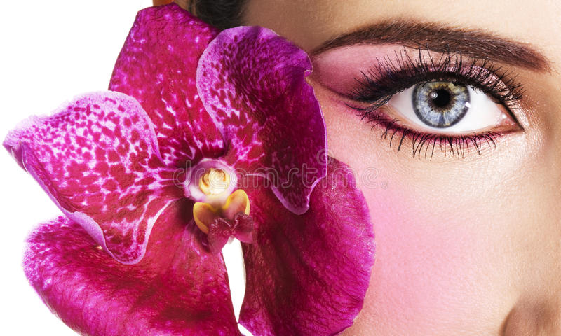 Woman eye stock images