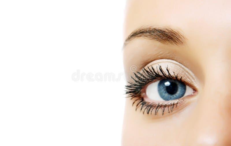 Woman eye stock photo