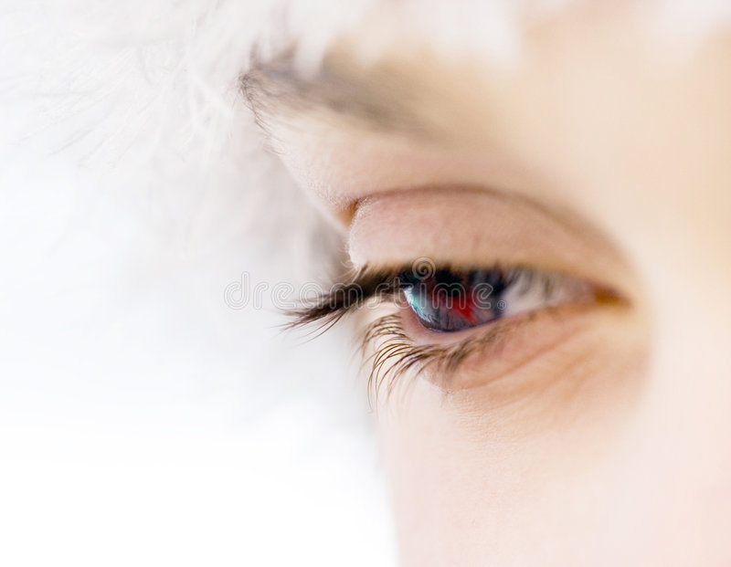woman eye royalty free stock photography