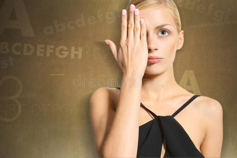 Download Woman in the eye stock image. Image of face, nose, assembly - 33740573