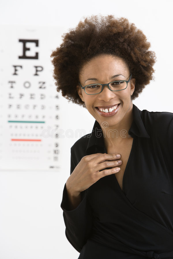 Download Woman With Eye Chart Stock Photography - Image: 4415922