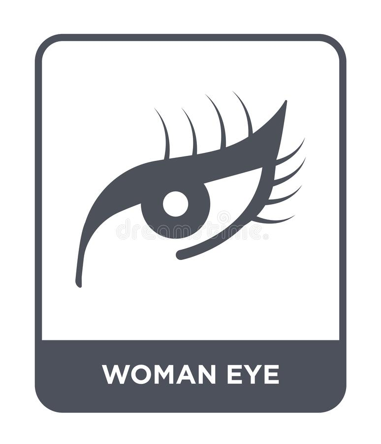 Woman eye icon in trendy design style. woman eye icon isolated on white background. woman eye vector icon simple and modern flat. Symbol for web site, mobile vector illustration