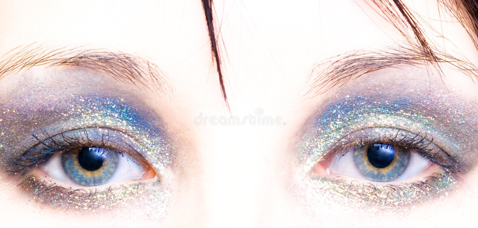 Woman with eye shadow royalty free stock photography