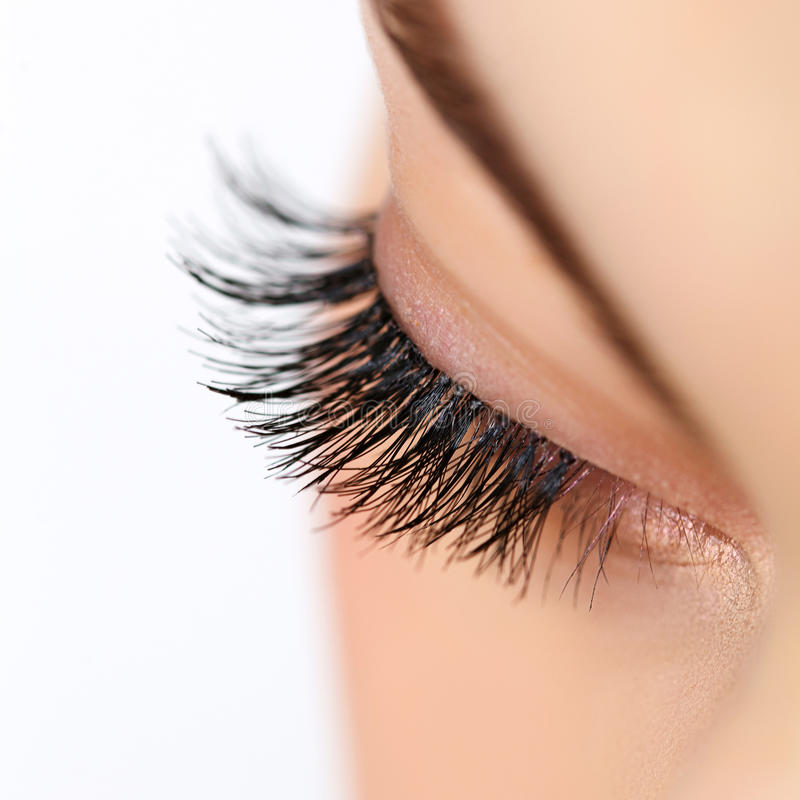 Free Woman Eye With Long Eyelashes. Eyelash Extension Stock Image - 38817901