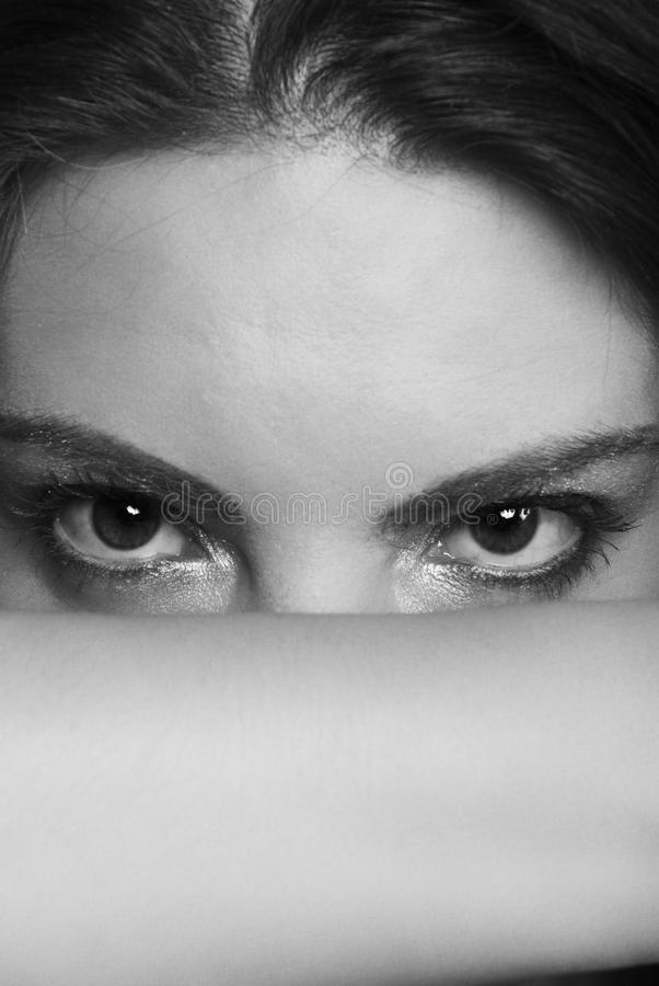 Download Woman Eyes Black And White Royalty Free Stock Photo - Image: 10698025