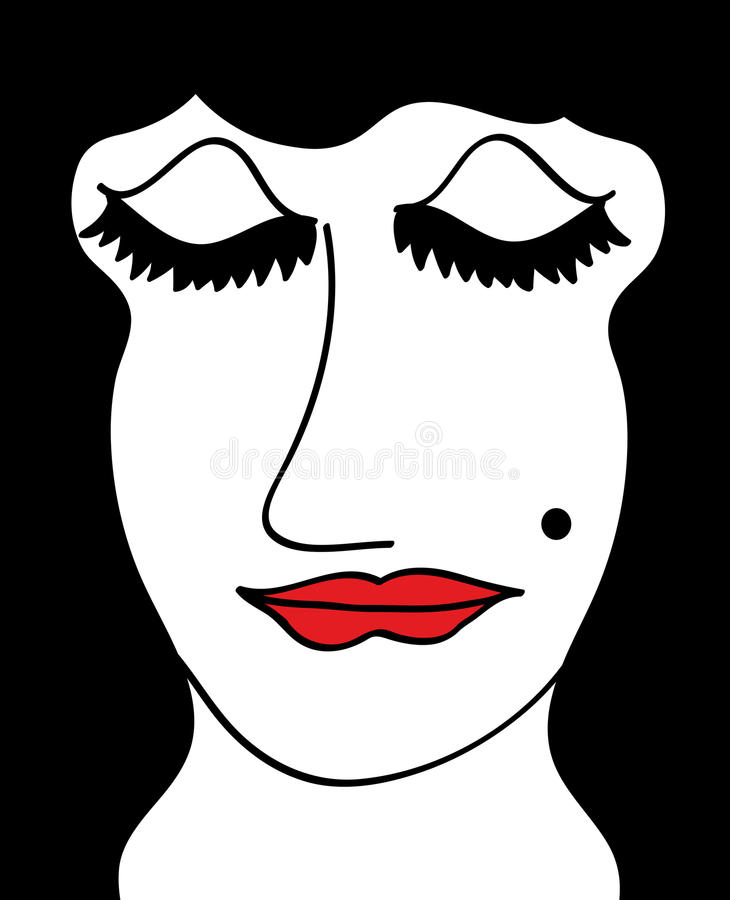 Download Woman face stock illustration. Image of color, adult - 12026692